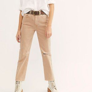 Free People Dakota Straight Leg Distressed Jeans